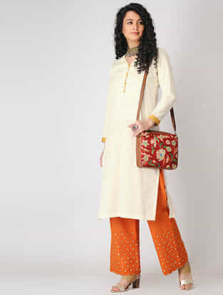 Ivory Cotton Slub Kurta