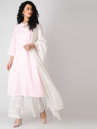 Pink Cotton Dobby Kurta