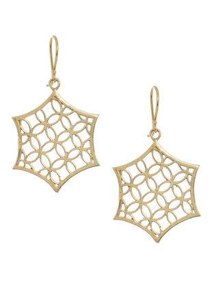 Classic Gold Tone Brass Earrings