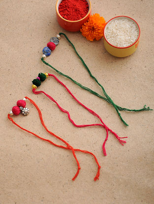Multicolored Thread Rakhi (Set of 3)