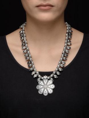 Classic Beaded Kolhapuri Brass Necklace