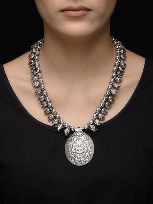 Classic Beaded Kolhapuri Brass Necklace with Deity Motif