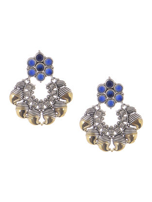 Blue Dual Tone Earrings