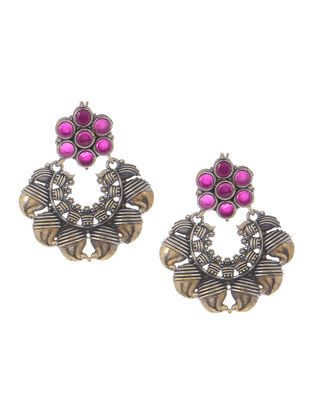 Pink Dual Tone Earrings