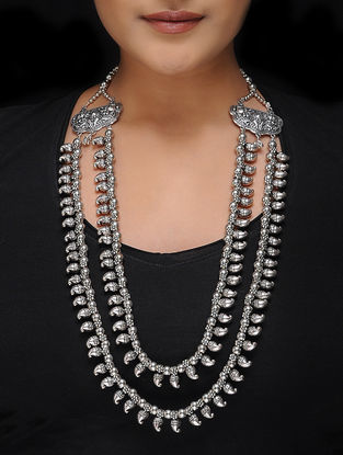 Classic Brass Kolhapuri Beaded Tribal Necklace