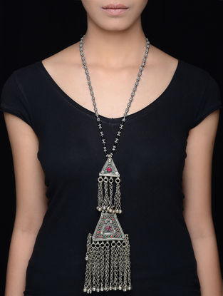 Classic Silver Tone Tribal Necklace