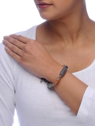 Grey Agate Beaded Bracelet
