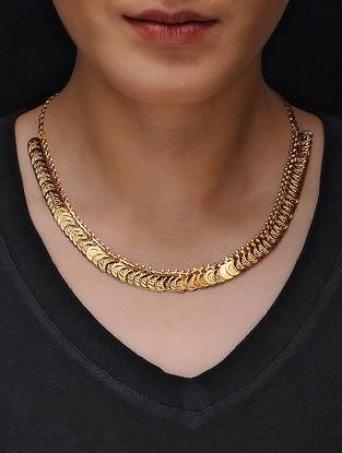 Antique Gold Tone Copper Coin Necklace