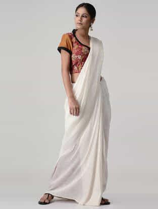 Red-Ochre Kalamkari-painted Silk Blouse