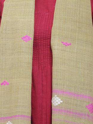 Beige-Pink Eri Silk Stole