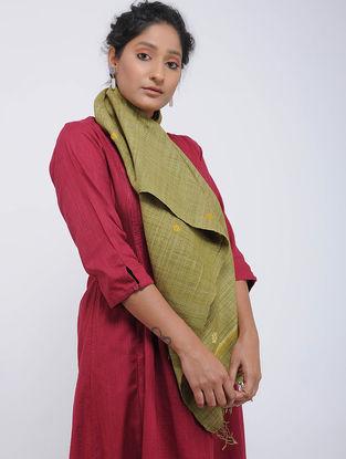 Green-Yellow Eri Silk Stole