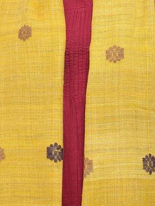 Yellow-Beige Eri Silk Stole