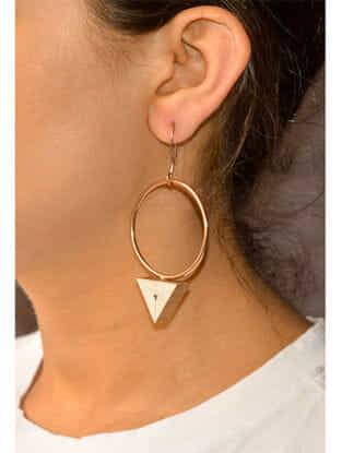 Ivory Rose Gold-plated Brass Earrings