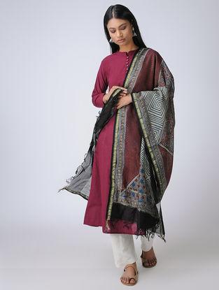 Indigo-Madder Ajrakh Silk Cotton Dupatta