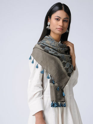 Brown Ajrakh Cotton Stole