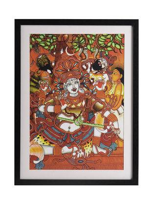 Shiva as Dakshinamurthy Kerela Murals 20in x 15in