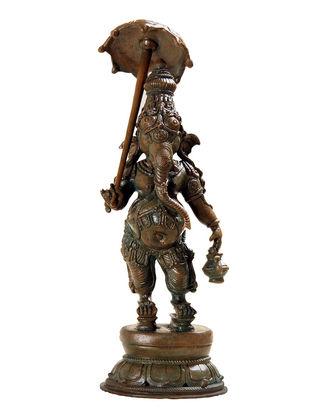 Mapillai Ganesha Bronze Statue - 14 Inch