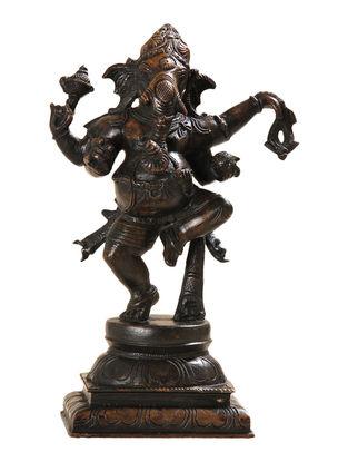 Dancing Ganesha - Nritya Ganapati Bronze Statue - 10 Inch