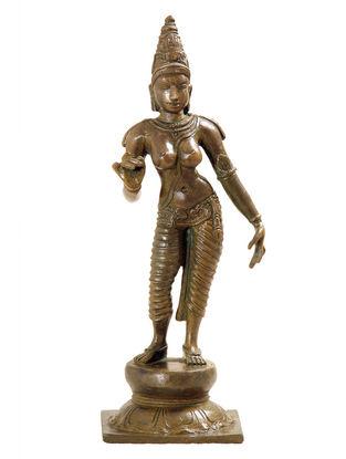 Parvathi-Bronze Statue - 9 Inch