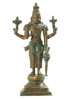 Vishnu Bronze Statue - 12 Inch