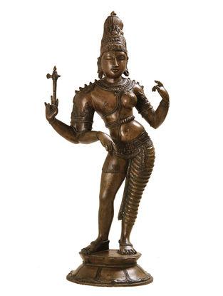 Shiva - Ardhnareshwar Bronze Statue - 12 Inch