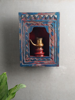 Vintage Inspired Wood and Brass Wall Accent (L:12in x W:8.7in)