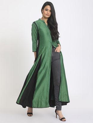 Green-Black Chanderi Jacket