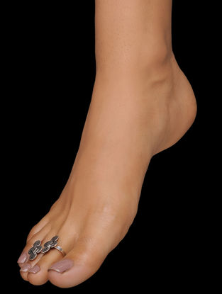 Tribal Silver Toe Rings (Set of 2)