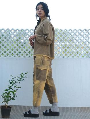 Yellow-Brown Handwoven Cotton Linen Pants