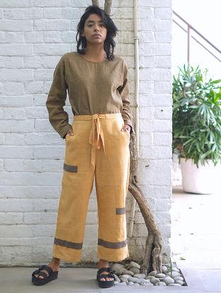 Yellow Handwoven Cotton Linen Pants