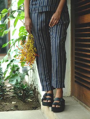 Blue Handwoven Cotton Linen Pants