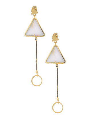 White Gold-plated Earrings
