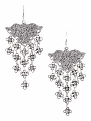 Classic Telkari-inspired Earrings with Floral Design