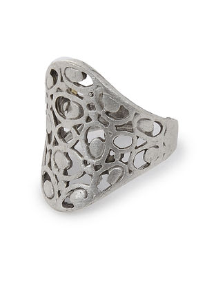 Silver-plated Adjustable Ring