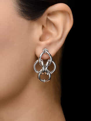 Classic Rhodium Plated Earrings