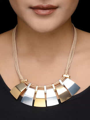 Statement Rhodium and Gold-plated Necklace