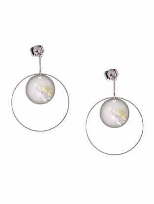 Mother of Pearl Rhodium-plated Earrings