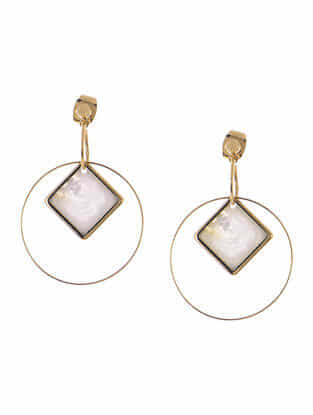 Mother of Pearl Gold-plated Mismatch Earrings