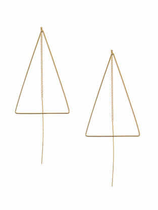 Classic Gold-Plated Needle Thread Earrings