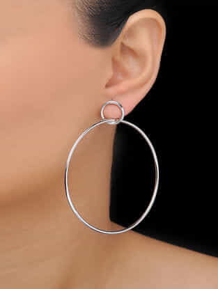 Classic Rhodium-plated Earrings