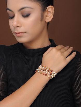 Multicolored Gold-Plated Brass Bracelet