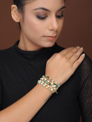 Green Gold-Plated Brass Bracelet
