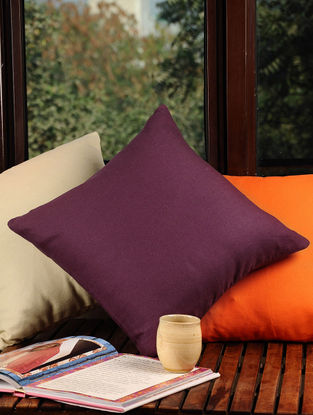 Wine Solid Cushion Cover 16in X 16in