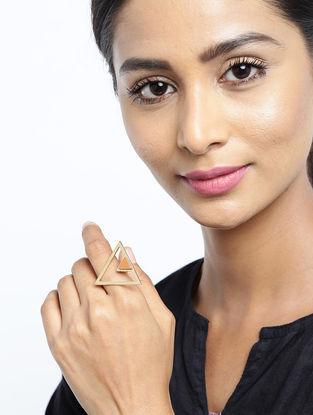 Tan Gold Tone Ring
