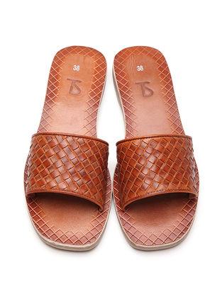 Tan Leather Flats