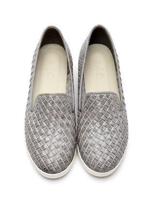 Grey Leather Shoes