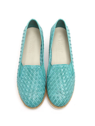 Turquoise Leather Shoes