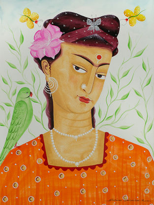 Limited Edition Kalighat Pattachitra Kali-Kahlo 25 Digital Print on Paper- 8.5in x 11.5in