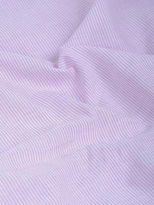 Lavender-White Striped Khadi-Cotton Fabric
