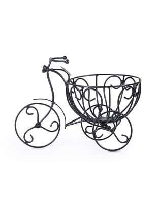 Iron Tricycle Planter (L:13.5in, W:7.6in, H:9in)
